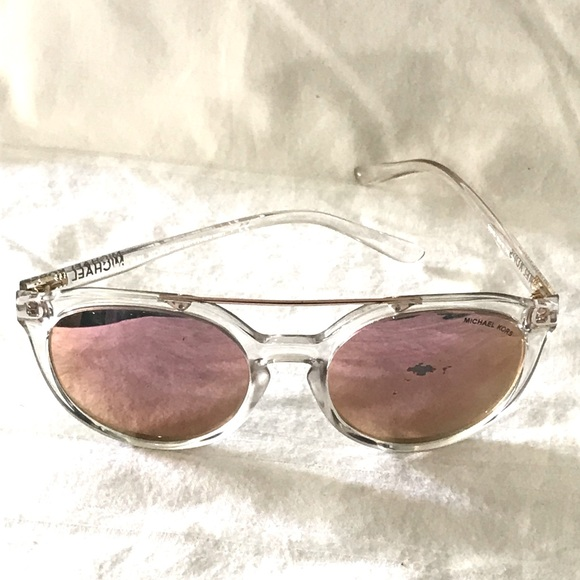 MK CAPE MAY CLEAR frame Rose Gold Lens Sunglass